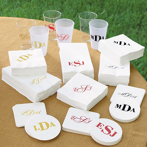 Ballard Design party cups and napkins