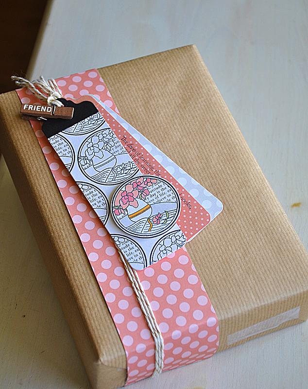 Beautifully gift wrapped book by  Mailebelles blog.