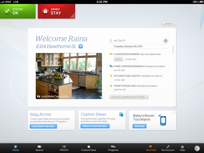 6038282140 AT&T Digital Life allows you to stay connected to your home/security system  24/