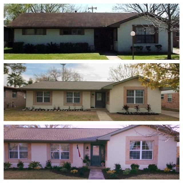 Our house was a full remodel.   Top Photo- Pre-remodel Middle Photo-Post-remodel Bottom Photo-The house a year later!