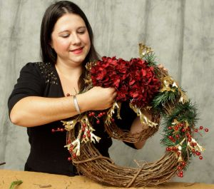 Wreaths are just one of Lisa's specialties! Photo provided by Lisa
