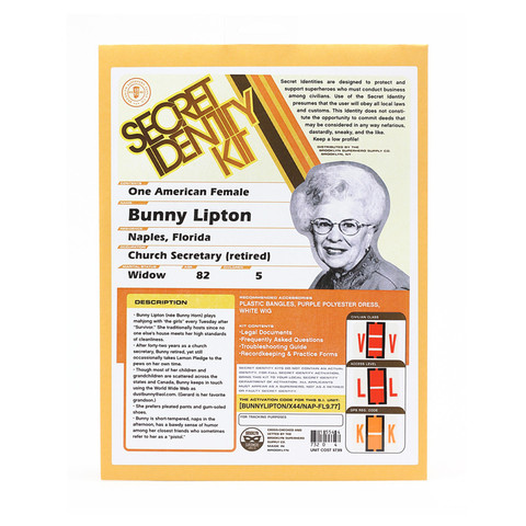 Secret Identity Kit, Bunny Lipton, $7.99 Photo: Brooklyn Superhero Supply Co.