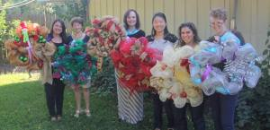 We had a blast making holiday wreaths.  Can you tell we're in Texas? #TXsizedwreath Photo provided by Lisa