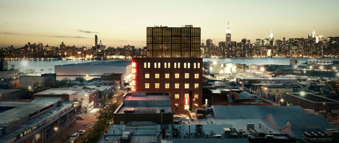 Breathtaking view from the Wythe Hotel