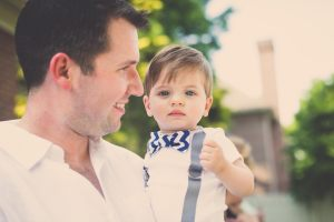 The ever handsome daddy and son duo, Mark and Parker Photo: Headrick's Photography