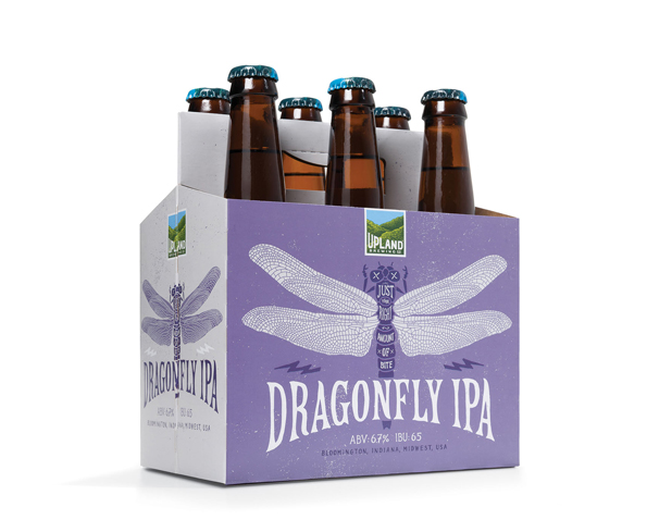 Laura's Fave, Dragonfly IPA, is described as being a well-balanced, malty beer with the crisp taste of hops and an exceptionally floral nose. Photo: Upland Brewing Co.