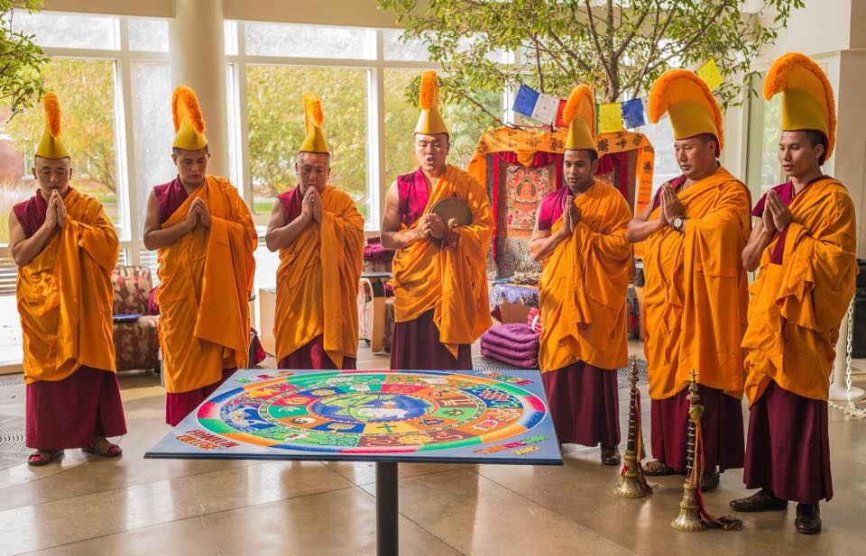 Sand Mandalas Photo: Tibetan Mongolian Buddhist Cultural Center Facebook
