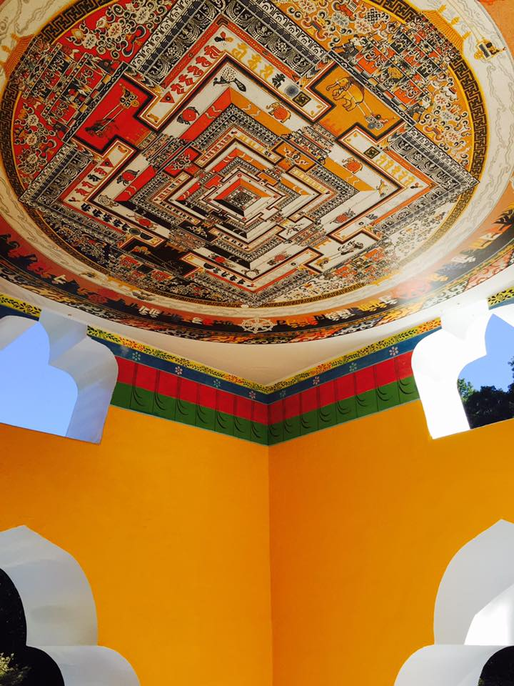 Interior view of the stupa Photo: Tibetan Mongolian Buddhist Cultural Center Facebook