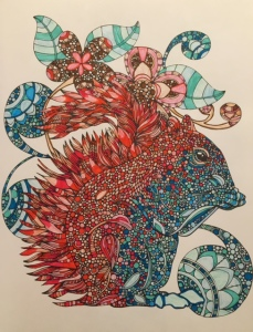 Fiery Squirrel, colored pencil and marker Photo: IDOPT